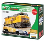 Kato 106-0023 N GE ES44AC GEVO Mixed Freight Starter Set Union Pacific Loco 6 Cars