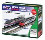 Kato 106-0044 N EMD SDP40F Starter Set DC Amtrak Phase II 4 Amfleet Cars Unitrack Oval & Power Pack