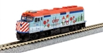 Kato 106-0045 N 2017 Operation North Pole Christmas Train Set DC Metra F40PH 5 Cars Unitrack Oval Power Pack