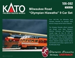 Kato 106-082 N Olympian Hiawatha 9-Car Passenger Set Post-1952 Version Milwaukee Road