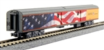 Kato 106-0861 N Union Pacific Excursion Train Lighted 7-Car Set Union Pacific Armour Yellow Gray Red