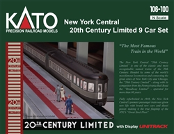 Kato 1061001 N 20th Century Limited 9-Car Lighted Set New York Central