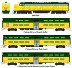 Kato 106-104 N CNW 400 EMD E8A and 5-Car Train-Only Set DC Chicago & North Western
