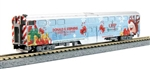 Kato 1062016A N Operation North Pole 2-Car Add-On Set w/Bookcase Case Standard DC Metra Special Christmas Scheme 381-1062016A