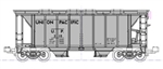 Kato 1064700 N ACF 2-Bay Covered Hopper 8-Pack 2 Each: Santa Fe Chicago Burlington & Quincy Union Pacific C&O 381-1064700