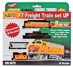Kato 1066272 N EMD F7 Freight Set UP 381-1066272 KAT1066272