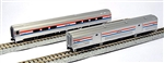 Kato 106-6292 N Amfleet II/Baggage Car Set B Amtrak Amcafe / 73' Baggage Phase III
