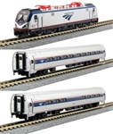 Kato 106-8001-DCC N ACS-64 Amfleet Bookcase Train-Only Set DCC Amtrak Phase VI