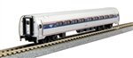Kato 106-8002 N Amfleet I Coach 2-Pack Amtrak Set A: Phase VI Wide Stripe Travelscape Logo