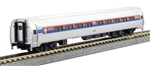 Kato 106-8011 N Amfleet I 4-Car Set in Bookcase Storage Case Amtrak Phase I Wide Stripes