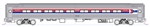 Kato 106-8012 N Amfleet I Coach 2-Pack Amtrak Set A #21226 21234 Phase I Wide Stripes