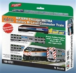 Kato 106-8701 N Chicago Metra Bi-Level Commuter Train-Only Set