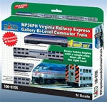 Kato 106-8705 N Virginia Railway Express Commuter Train-Only Set DC MP36PH Loco