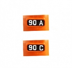 Kato 11650 N Alternate Numberboards for Kato EMD FP7A Milwaukee Road #90A 90C 381-11650
