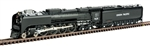 Kato 126-0402 N Class FEF-3 4-8-4 DC Union Pacific #838 Freight Version Flat Graphite