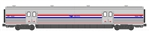 Kato 1560955 N Viewliner II Baggage Car Amtrak #61006 Phase III: Stainless Blue Travelscape Logo 381-1560955