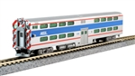 Kato 156-0970 N Pullman Gallery Bi-Level 4-Window Commuter Coach Metra Chicago 7836