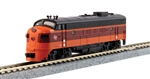 Kato 176-2302-DCC N EMD FP7A DCC Milwaukee Road 90C