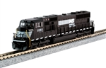 Kato 176-7605-DCC N EMD SD70M with Standard Flat Radiators DCC Norfolk Southern 2583
