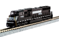 Kato 176-7606-DCC N EMD SD70M with Standard Flat Radiators DCC Norfolk Southern 2588