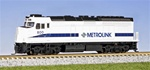 Kato 176-9005 N EMD F40PH Commuter Version DC Southern California Metrolink SCAX #880