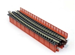"Kato 20465 N Single-Track Curved Deck-Girder Bridge Code 80 Track Unitrack 17-5/8"" 448mm Radius 15 Degrees 381-20465"