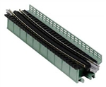 "Kato 20472 N Single-Track Curved Deck-Girder Bridge Code 80 Track Unitrack 19"" 481mm Radius 15 Degrees 381-20472"