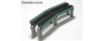 "Kato 20824 N Single-Track Curved Deck-Girder Bridge 4-Pack Code 80 Track Unitrack 19"" 481mm Radius 60 Degrees 381-20824"