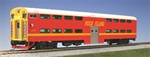 Kato 35-6024 HO Pullman Bi-Level 4-Window Cab-Coach Rock Island #CC115