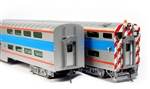 Kato 356027 HO Pullman Bi-Level 4-Window Cab-Coach RTR Chicago Metra 8730 381-356027