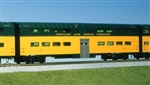 Kato 356043 HO Pullman Bi-Level 6-Window Coach Chicago & North Western green 381-356043