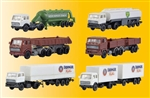 Kibri 36980 Z Mercedes-Benz & DAF Semi Tractor & Trailer Set Kit 6 Different Tractor/Trailer Kits 405-36980