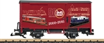 LGB 40505 G 2-Axle Steel Boxcar LGB 50th Anniversary 2008-2018 Model Graphics