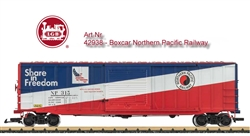 LGB 42938 G Steel Boxcar Northern Pacific