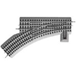 Lionel 612017 O FasTrack Track w/Roadbed 3-Rail Manual Turnout Switch O-36 Left Hand