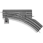Lionel 612018 O FasTrack Track w/Roadbed 3-Rail Manual Turnout Switch O-36 Right Hand