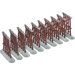 "Lionel 612038 O FasTrack Elevated Trestle 10 Pieces All 5-1/2"" Tall"