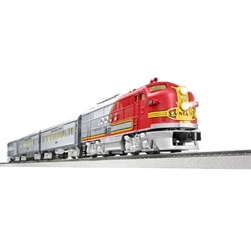 Lionel 684719 O Super Chief Passenger Set LionChief Santa Fe EMD FT-A 3 Cars