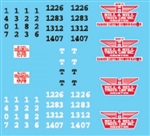 Lonestar 12024 HO Vehicle Decal Set Hill & Hill Truck Lines