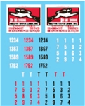 Lonestar 12025 HO Vehicle Decal Set Melton Truck Lines