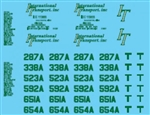 Lonestar 12026 HO Vehicle Decal Set International Transport green 437-12026