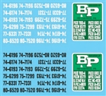 Lonestar 12030 HO Vehicle Decal Set B&P Motor Express 437-12030