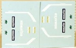 Lonestar 30029 HO Zycon Models Vehicle Decals For Kibri Komatsu D575A-2 Super Dozer 437-30029