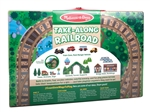 Melissa & Doug 30140 V Take Along  Tabletop Wooden Railroad