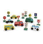 Melissa & Doug 3177 V Vehicles & Traffic Signs Set 6 Vehicles & 9 Signs
