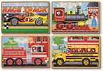 Melissa & Doug 3794 V Vehicle Jigsaw Puzzles Four in One Box 12-piece Puzzles