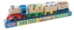 Melissa & Doug 4545 V Wooden Farm Train