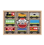 Melissa & Doug 5186 V Wooden Train 8-Car Set