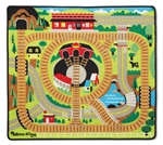 Melissa & Doug 9554 V Round the Rails Train Rug