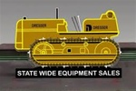 Micro Structures 39812R Animated Neon Billboard State Wide Equipment Sales Bulldozer Kit Right Facing Only